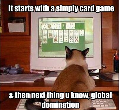 It starts with a simply card game