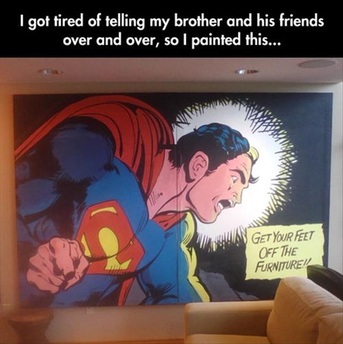 Listen to Superman!