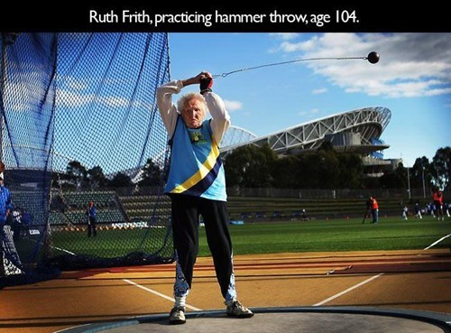 No Matter Your Age You Better Throw the Hammer!