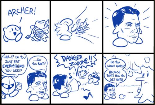 crossover,kirby,archer,web comics