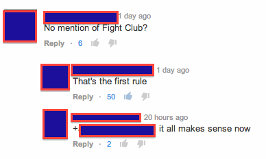 comments,fight club,youtube
