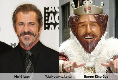 Mel Gibson Totally Looks Like Burger King Guy
