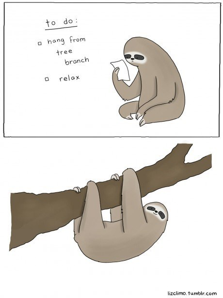 Sloth's To Do List