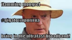 flamming mongrel #gigatownporirua bring in the ultrafast broadband!