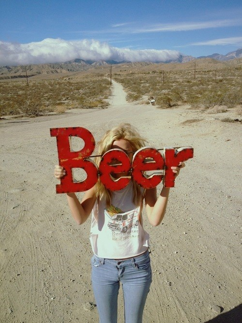 Nothing Compliments the Desert Like Beer