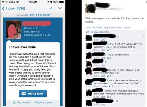 creepy,feet,online dating