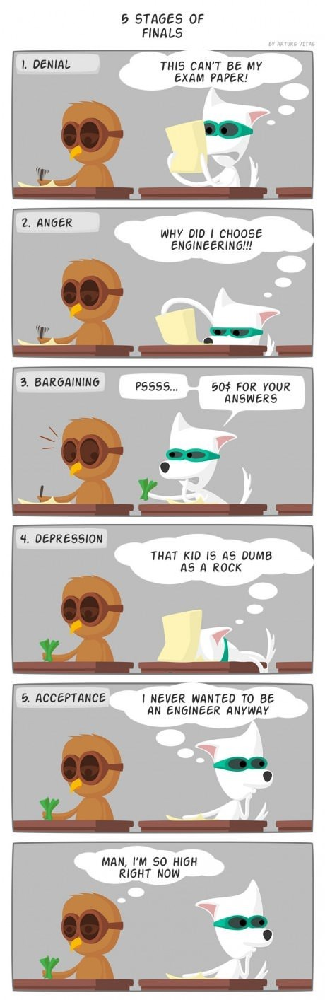 The Five Stages of Finals