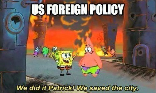 SpongeBob SquarePants,foreign policy