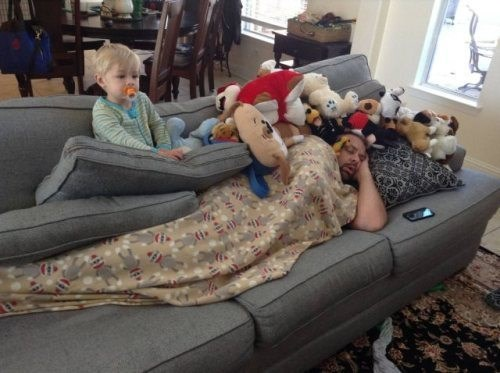 stuffed animal,kids,couch,parenting,dad,g rated