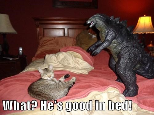 What? He's good in bed!