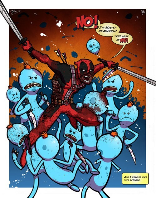 rick and morty,FanArt,deadpool