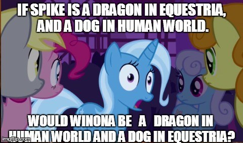 Good observation Trixie.