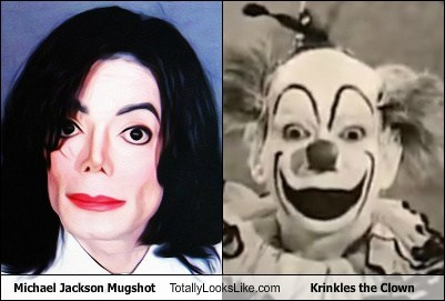 Michael Jackson Mugshot Totally Looks Like Krinkles the Clown