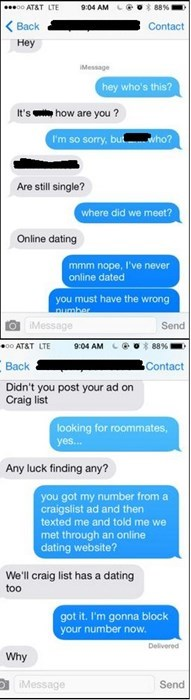craigslist,creeper,texting,roommates