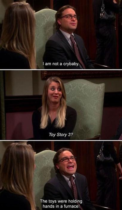 toy story,big bang theory,crying
