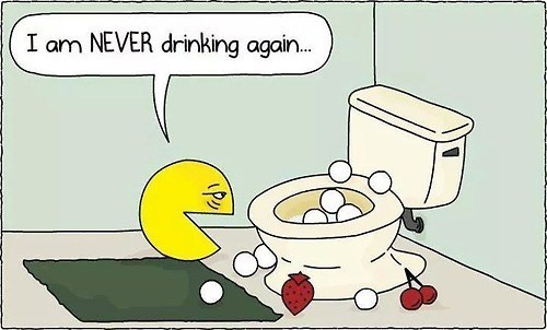 Pac-Man Gets Really Drunk Hungry