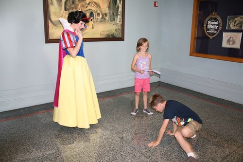 Showing Snow White His Moves