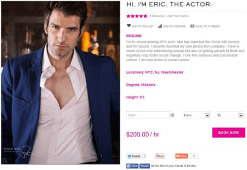 Rent-a-Gent: For a Mere $200/hr You Can Hire a Hunky Guy