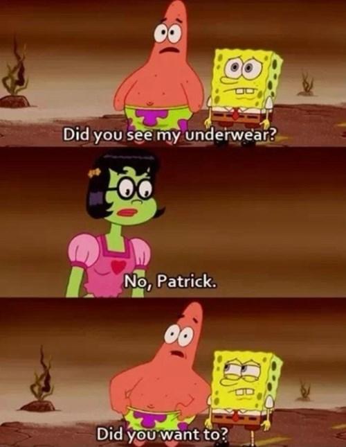 funny,patrick,SpongeBob SquarePants,pickup lines,TV