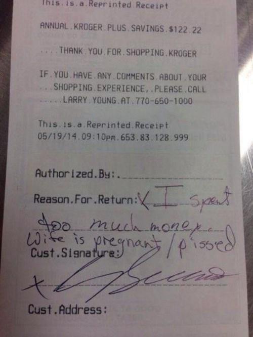 customer service,monday thru friday,receipt,return,reason