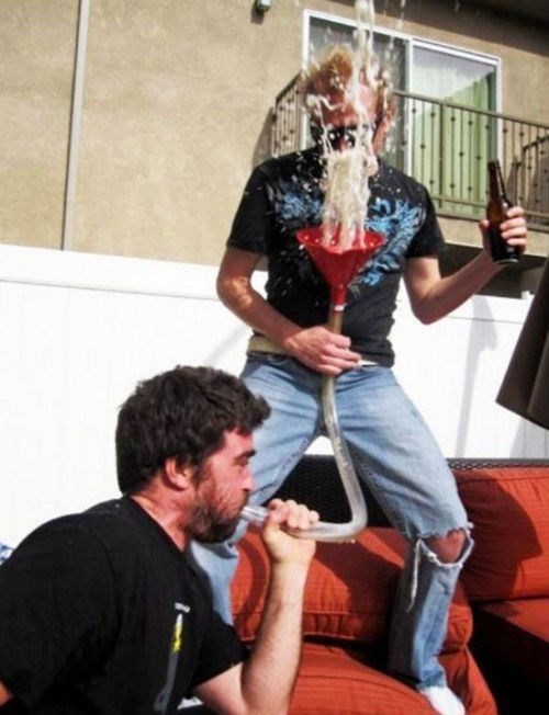 Never Blow the Beer Bong
