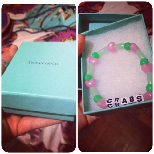 crabs,bracelets,Jewelry,poorly dressed,tiffany