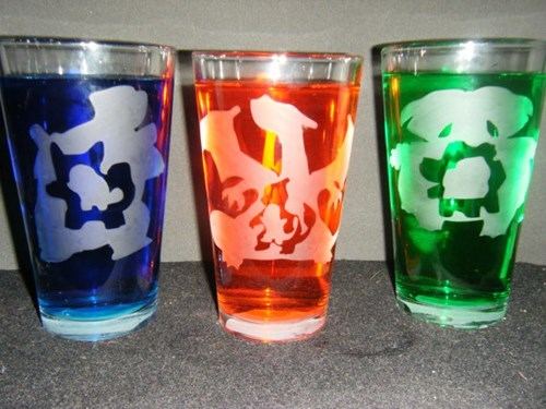 Get Any Pokemon on Your Pub Glasses