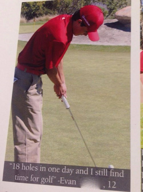 golf,quote,funny,yearbook