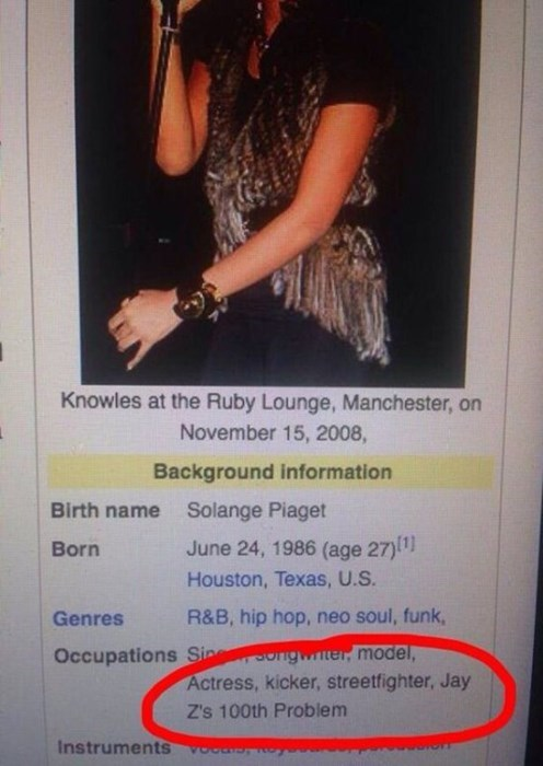 99 problems,Jay Z,wikipedia,Solange