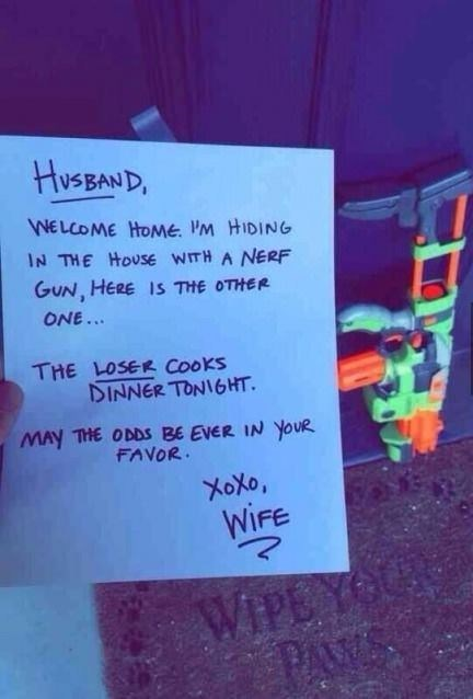 Nerf,wife,fight,funny,dating,g rated