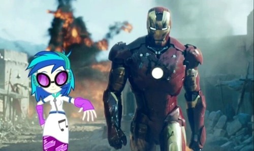 vinyl scratch,iron man