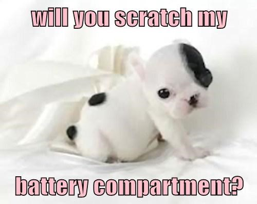 will you scratch my  battery compartment?