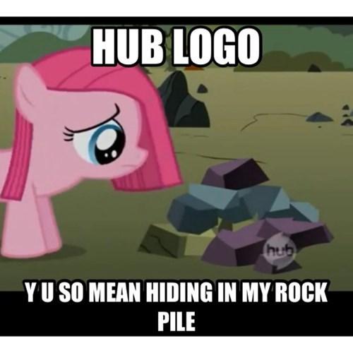 hub logo,rocks,pinkie pie