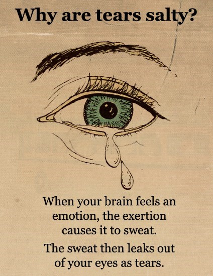 Eye Sweat Is for Sadness