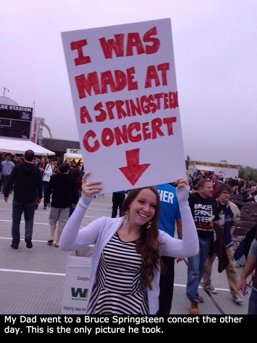 bruce springsteen,dad,concert,parenting,sign,g rated