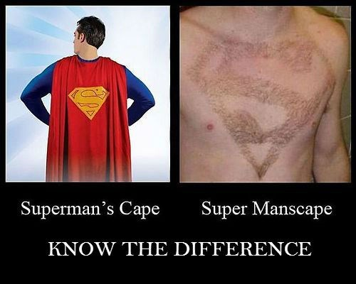 Manscaping funny superman
