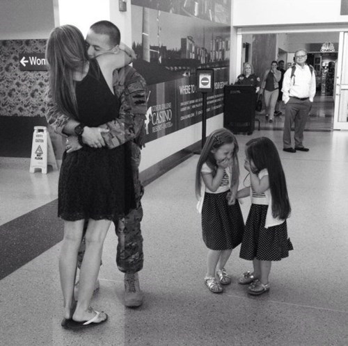 airport,giggle,kids,parenting,military,welcome