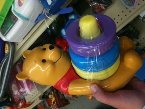 Winnie the Pooh is VERY Happy to Help You Stack Your Rings