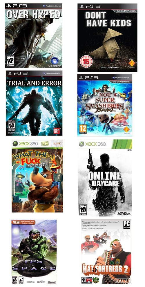 honest,video games,title