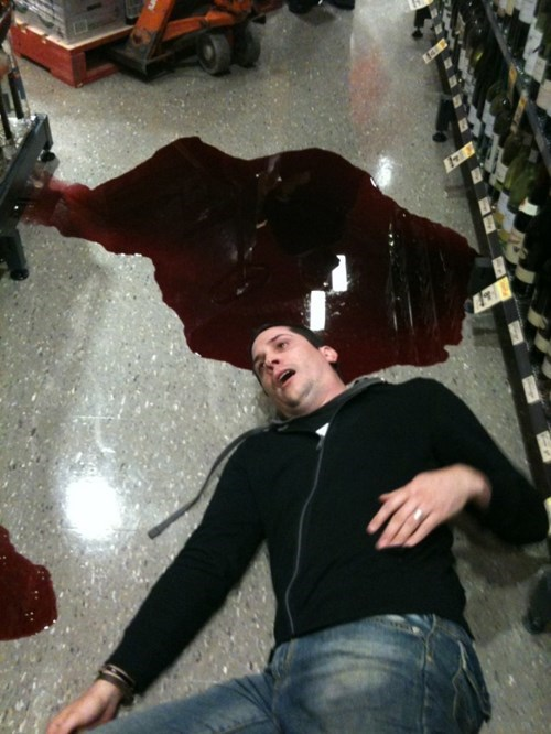 Before You Clean Up That Wine Spill... Photo Op!