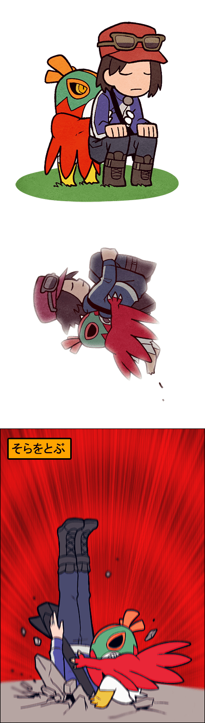 hilarious,Pokémon,hawlucha,flying piledriver