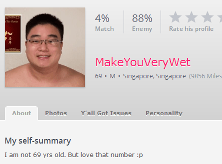 69,profile,online dating,funny