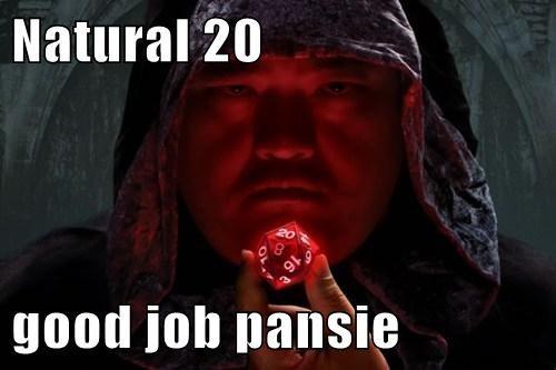 Natural 20  good job pansie