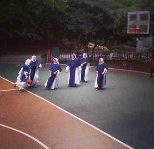 sports,basketball,nun