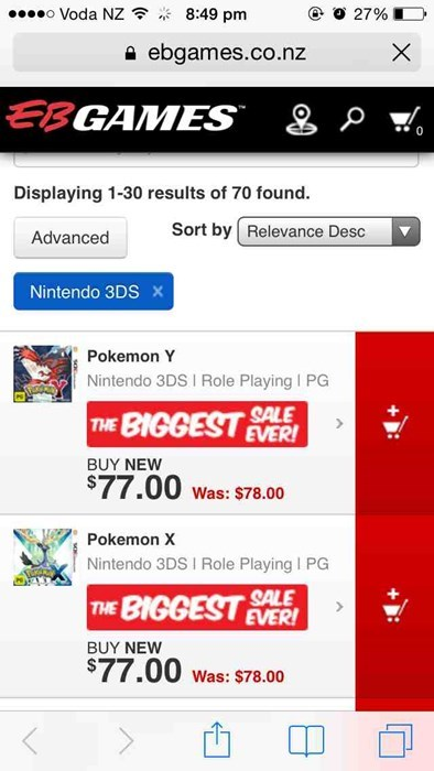 Nice Sale, EB Games...