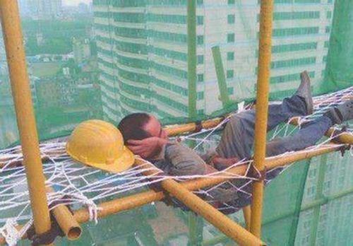 monday thru friday,hammock,nap,construction