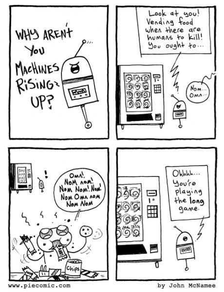 vending machines,singularity,robots,snacks,web comics