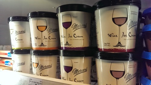 Wine Flavored Ice Cream? Yes Please!