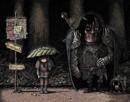 crossover,the hound,Game of Thrones,anime,totoro,arya stark,fan art