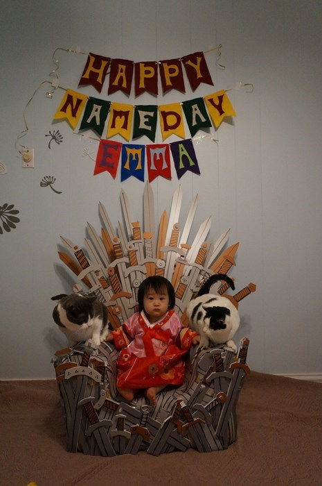 name day,baby,birthday,Game of Thrones,parenting,iron throne,g rated